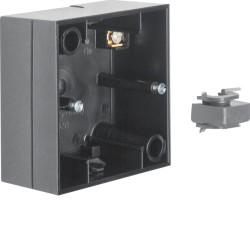 Berker R.3 juoda vienvietė dėžutė virštinkiniam elektros jungiklių montavimui