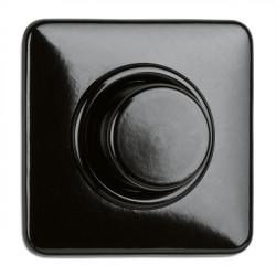 THPG bakelito dimeris - šviesos srauto intensyvumo reguliatorius kaitrinėms lemputėms, juodas