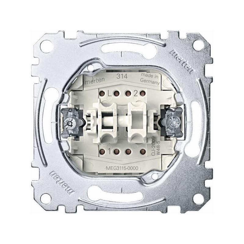 Merten-system-M-design-elektros-jungiklis-jungtukas-mygtukas-perjungiklis-kryzminis-dvigubas