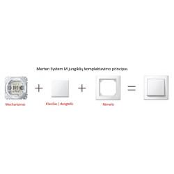 Merten M-Pure decor jungiklių komplektavimo principas