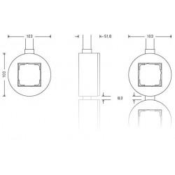 Gira studio virštinkinis elektros jungiklis stiklinis vienvietis viengubas rėmelis matmenys