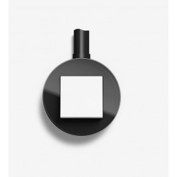 Gira studio virštinkinis baltas elektros jungiklis stiklinis rėmelis juodas