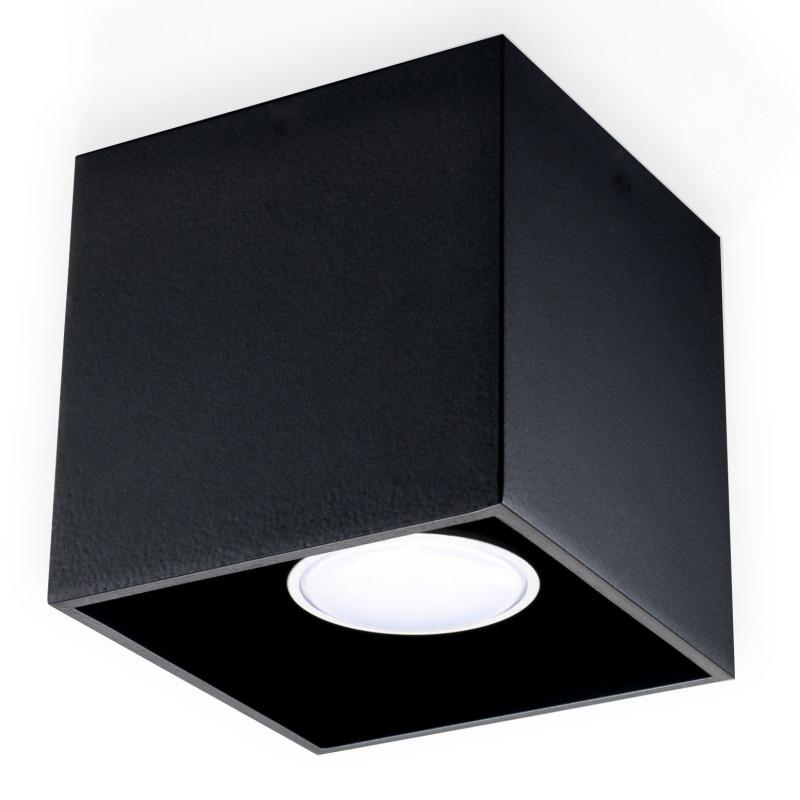 Plafonas QUAD 1 juodas - 1 - 23,72€
