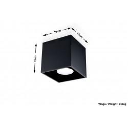 Plafonas QUAD 1 juodas - 4 - 23,72€