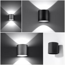 Sieninis šviestuvas ORBIS 1 juodas - 5 - 24,62€