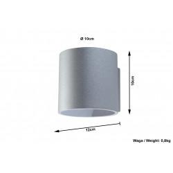 Sieninis šviestuvas ORBIS 1 pilkas - 6 - 24,62€