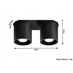 Plafonas ORBIS 2 juodas - 5 - 51,98€