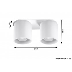 Plafonas ORBIS 2 baltas - 4 - 51,98€