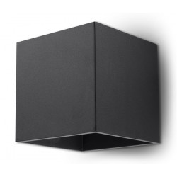 Sieninis šviestuvas QUAD 1 juodas - 1 - 25,16€
