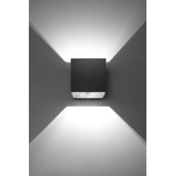 Sieninis šviestuvas QUAD 1 juodas - 3 - 25,16€
