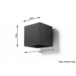 Sieninis šviestuvas QUAD 1 juodas - 5 - 25,16€