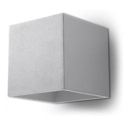 Sieninis šviestuvas QUAD 1 pilkas - 1 - 25,16€