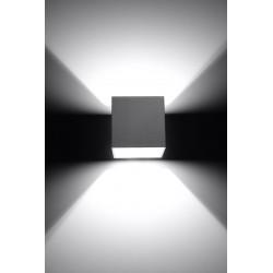 Sieninis šviestuvas QUAD 1 pilkas - 3 - 25,16€