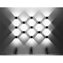 Sieninis šviestuvas QUAD 1 pilkas - 4 - 25,16€
