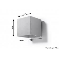 Sieninis šviestuvas QUAD 1 pilkas - 6 - 25,16€