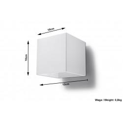 Sieninis šviestuvas QUAD 1 baltas - 6 - 25,16€