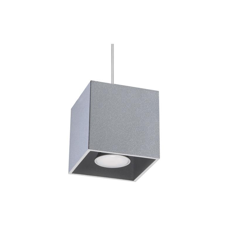 Pakabinamas šviestuvas QUAD 1 pilkas - 1 - 30,73€