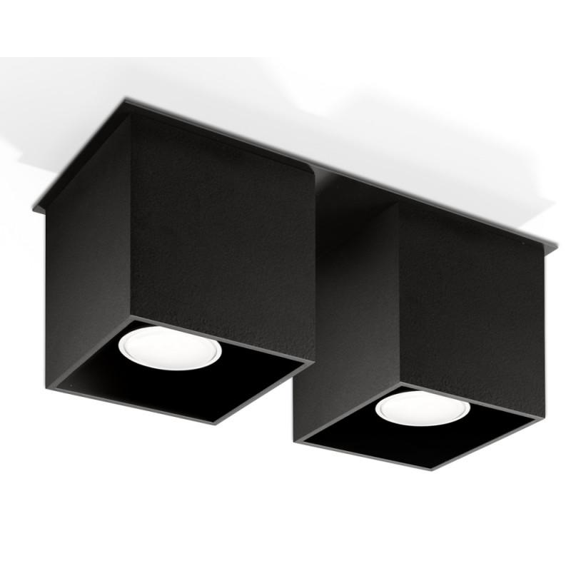 Plafonas QUAD 2 juodas - 1 - 52,34€