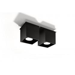 Plafonas QUAD 2 juodas - 2 - 52,34€