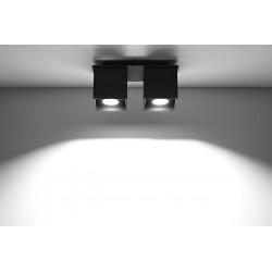 Plafonas QUAD 2 juodas - 3 - 52,34€
