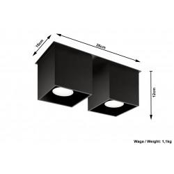 Plafonas QUAD 2 juodas - 5 - 52,34€