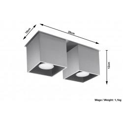 Plafonas QUAD 2 pilkas - 5 - 52,34€