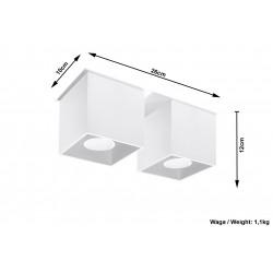 Plafonas QUAD 2 baltas - 5 - 52,34€