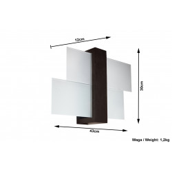 Sieninis šviestuvas FENIKS 1 venge - 5 - 35,76€