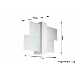 Sieninis šviestuvas FENIKS 1 baltas - 4 - 35,76€
