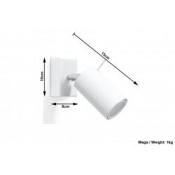 Sieninis šviestuvas RING baltas - 5 - 19,05€