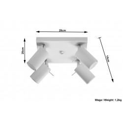 Plafonas RING 4 baltas - 4 - 63,38€