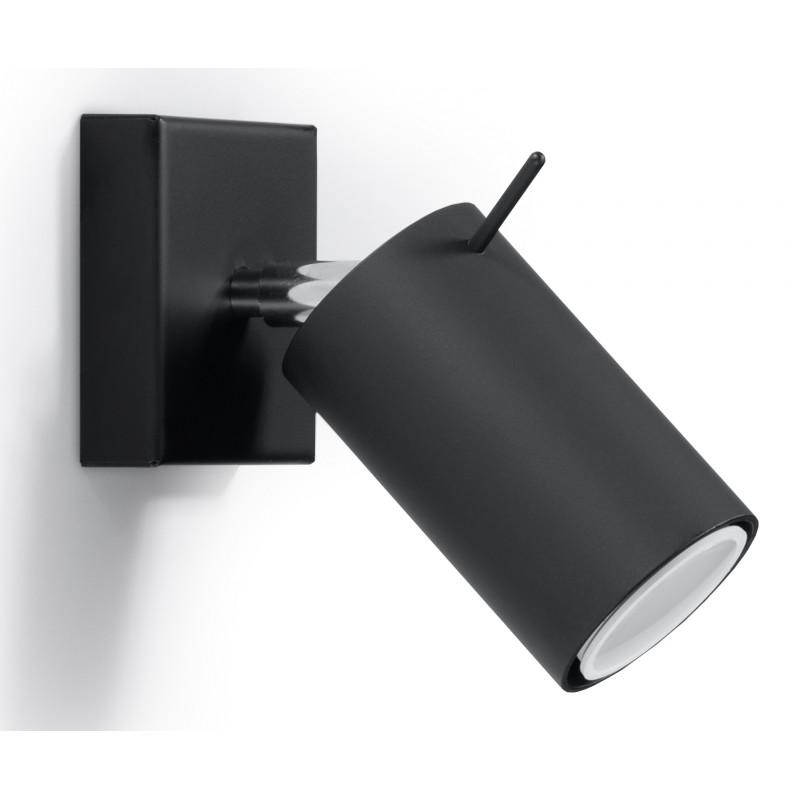 Sieninis šviestuvas RING juodas - 1 - 19,05€