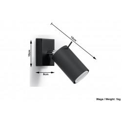 Sieninis šviestuvas RING juodas - 5 - 19,05€