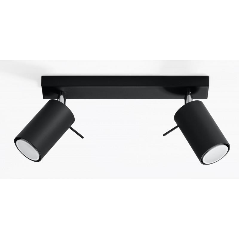 Plafonas RING 2 juodas - 1 - 34,04€
