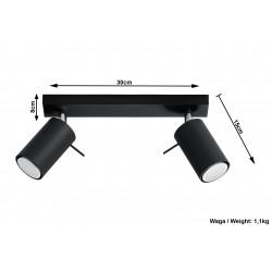 Plafonas RING 2 juodas - 4 - 34,04€