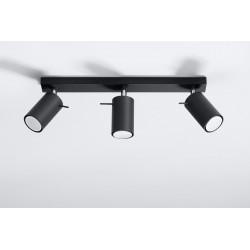 Plafonas RING 3 juodas - 2 - 47,60€
