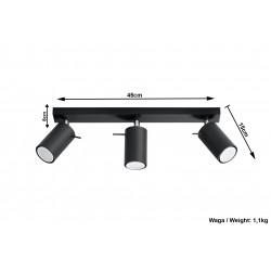Plafonas RING 3 juodas - 5 - 47,60€