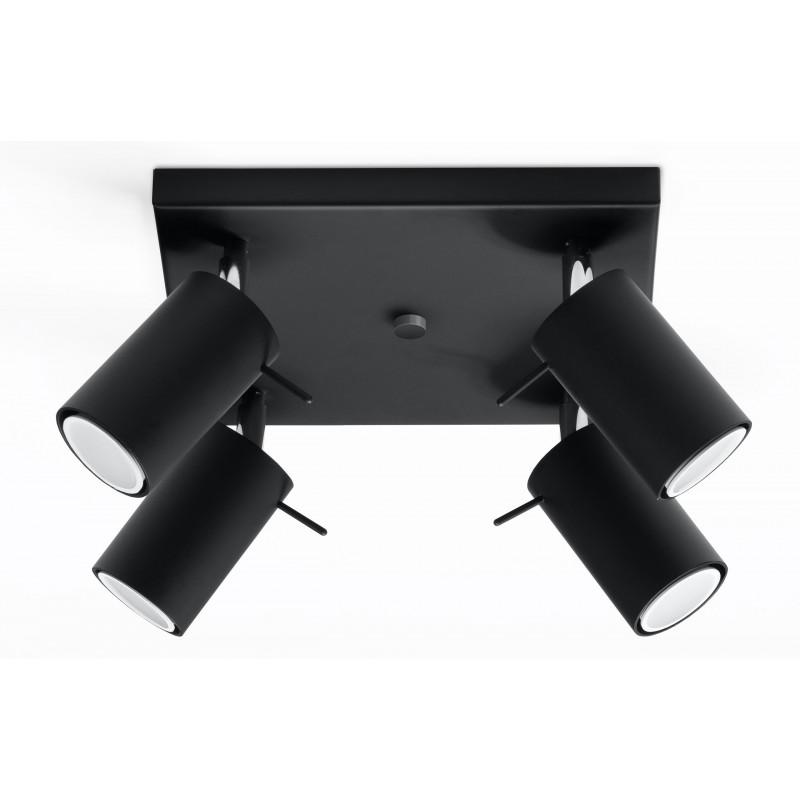 Plafonas RING 4 juodas - 1 - 63,38€