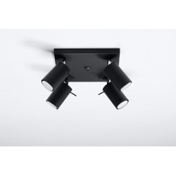 Plafonas RING 4 juodas - 2 - 63,38€