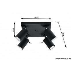 Plafonas RING 4 juodas - 5 - 63,38€