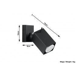 Sieninis šviestuvas MERIDA juodas - 5 - 21,42€