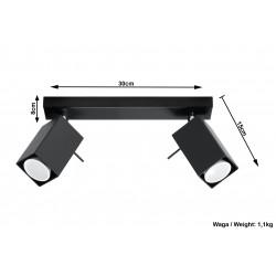 Plafonas MERIDA 2 juodas - 5 - 38,84€