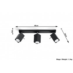 Plafonas MERIDA 3 juodas - 5 - 54,78€