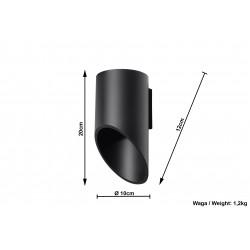 Sieninis šviestuvas PENNE 20 juodas - 4 - 34,65€