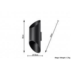 Sieninis šviestuvas PENNE 30 juodas - 4 - 45,22€