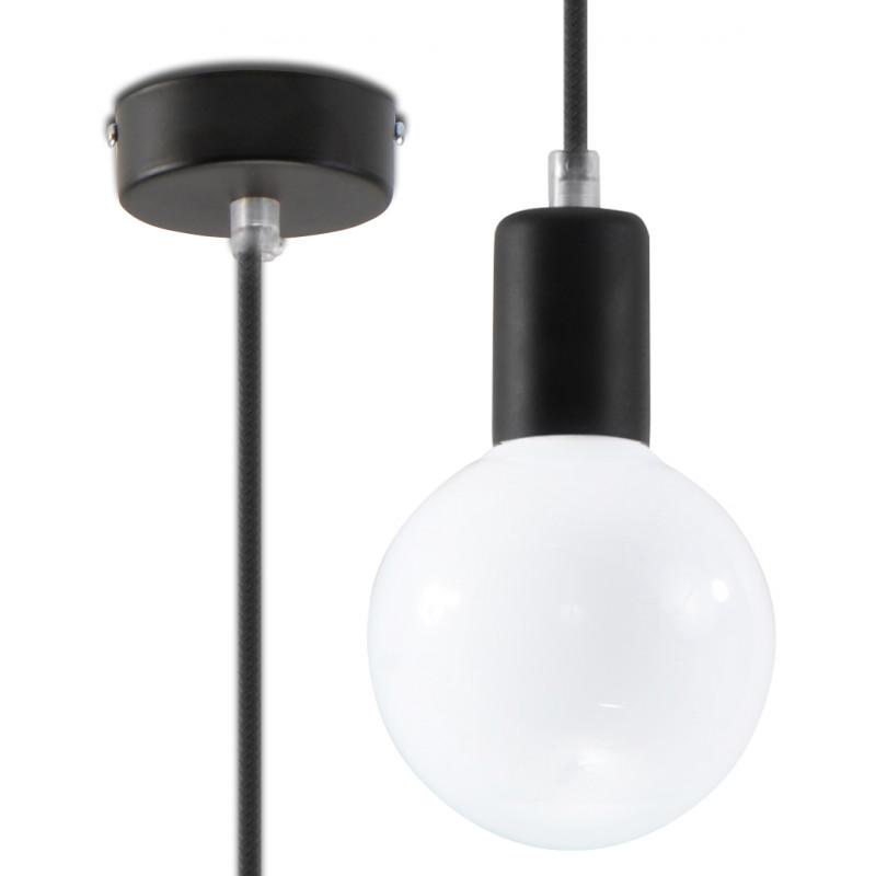 Pakabinamas šviestuvas EDISON juodas - 1 - 15,29€