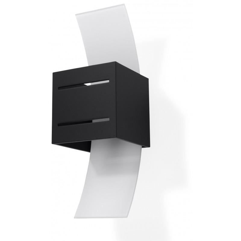 Sieninis šviestuvas LORETO juodas - 1 - 32,32€