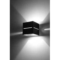 Sieninis šviestuvas LOBO juodas - 3 - 28,96€