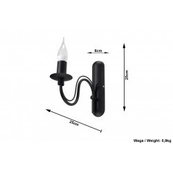 Sieninis šviestuvas MINERWA juodas - 5 - 23,82€
