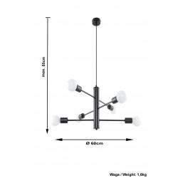 Lubinis šviestuvas DUOMO 6 - 4 - 98,64€
